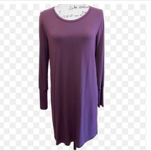 Athleta Peep Hole Back Long Sleeve Dress Sz XS